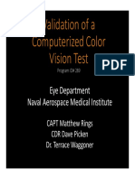 Validation of a Computerized Color Vision Test