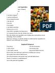 Beth's Recipes