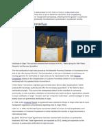 Certificate of Origin -Wiki