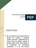 Auditoría de Sistemas de Información - Introducción - Parte i
