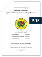 Laporan Kunjungan Lapangan PKM KARANG PULE