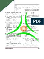Class IX - Test - Mathematics (30.1.2014) Rasi School