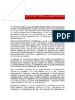 Analisis de La Experiencia Propia en La Elaboracion de Portafolios