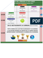 Horarios Del Sáb 17 Junio Finales
