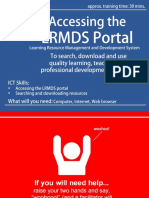 Activity Card - Accessing the LRMDS Portal