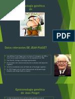 Epistomología Genética Jean Pieget