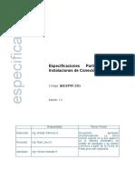ES.03761.CO. Especificaciones Particulares Para Instalaciones de Conexion y Enlace