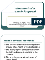 Development of a Research Proposal