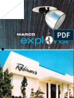Marco Explorer Recessed Adjustable Downlights Catalog 1979