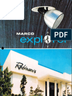 Marco Explorer Recessed Adjustable Downlights Catalog 1979
