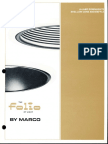 Marco Folio A-Lamp Shallow Cone & Baffle Downlight Brochure 1980