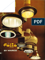 Marco Folio Recessed Specification Lighting Catalog 1978