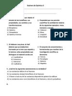 Examen de Química 1