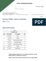 735 Articulated- Cilindros de Dirección- Remoción y Instalación