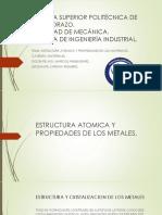 Estructura Atómica y Propiedades de Los Materiales