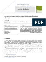 On Defining Ideals and Differential Algebras of Nichols Algebras
