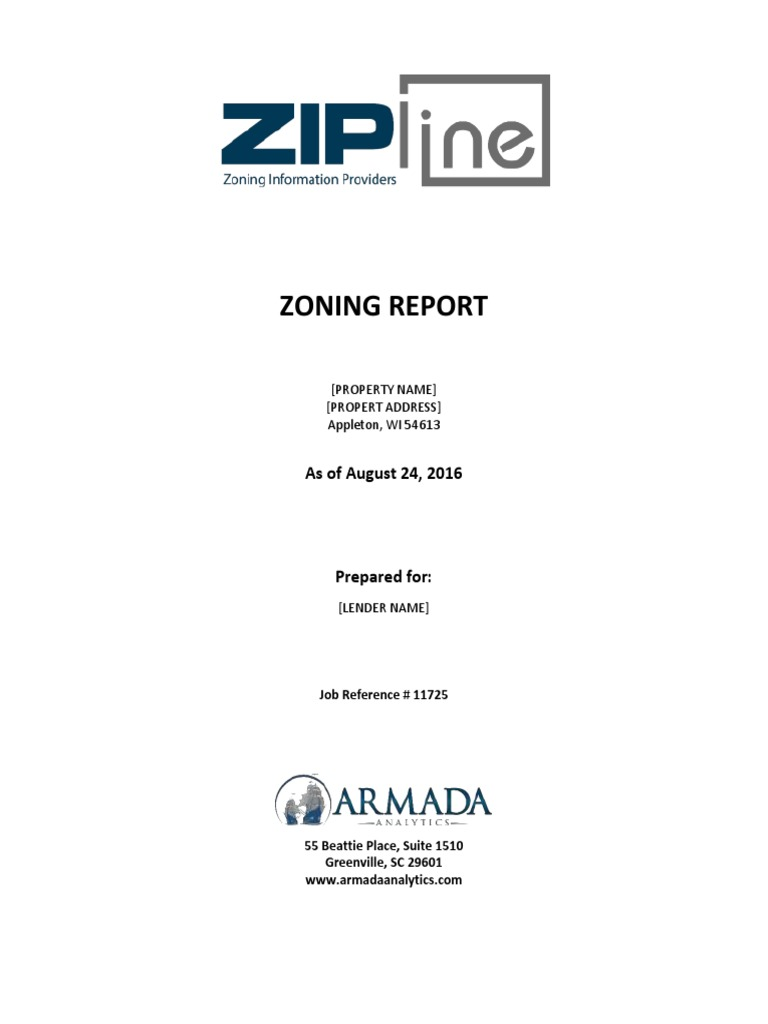 Zipline Zoning Report Ex 1 Zoning Securities Finance