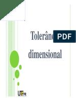 Aula 4 - Tolerância Dimensional