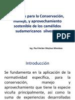 Acciones Para La Conservación, Manejo Sostenido Del CUSCSS
