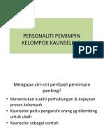 Personaliti Pemimpin Kelompok.ppt