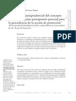 El Desarrollo Jurisprudencial Del Concepto de Amenaza Como Presupuesto Procesal Para La Procedencia de La Accion de Proteccion