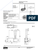 Parker Manual and Mechanical Operated Valves
