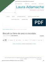 Biscuiti Cu Faina de Orez Si Ciocolata _ Retete Culinare Laura Adamache