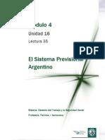 Lectura 35 - Sistema Previsional Argentino