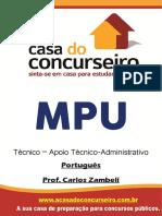 Apostila Mpu Tecnico Portugues Zambeli