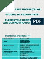 CURS 5. Studiul de Fezabilitate. Diagnosticul Global