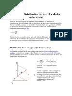 La Ley de Distribución de Las Velocidades Moleculares