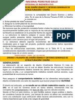 Unidad i - Filosofia Del Diseño Sismico y Criterios Estruct y Diseño