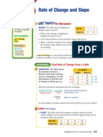 Rate of Change Slope (Glencoe)