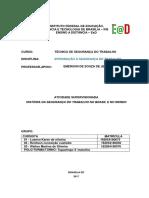 Modelo Do Relatorio Introdução Técnico Em Segurança Do Trabalho (1)