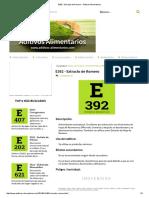 E392 - Extracto de Romero - Aditivos Alimentarios