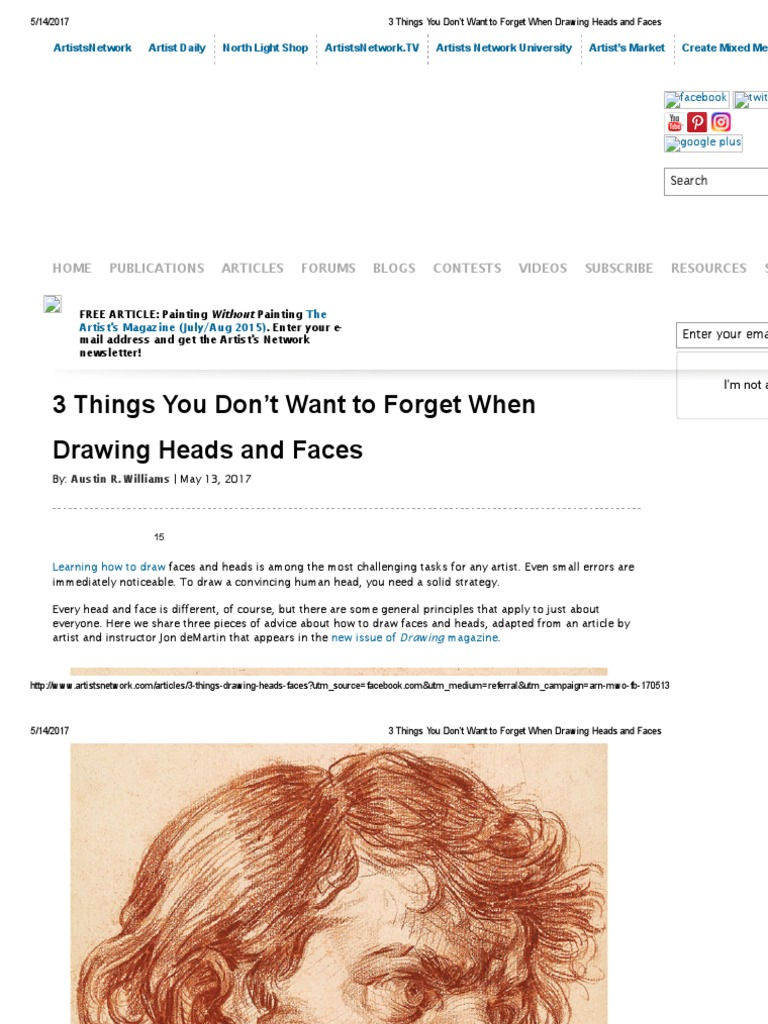 3 Things   Drawing Heads And Faces | Drawing | Paintings