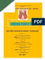 FERIA ESCOLAR NACIONAL DE CIENCIA Y TECNOLOGÍA _ 2017