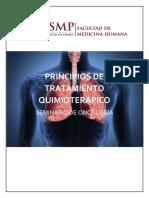 Principios de Tratamiento Quimioterápico-seminario de Oncología