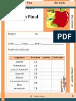 6to Grado - Examen Final SEXTO GRADO.docx