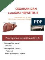 Pencegahan Dan Edukasi Hepatitis b