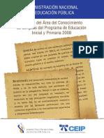 Anep- Glosario del área de conocimientos de Lenguas. Programa Inicial y Primaria 2008.