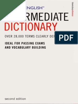 intermediate_dictionary pdf | Part Of Speech | Phrase