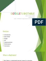 Google Bigtable