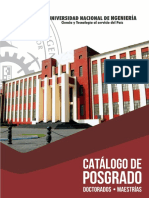 Catálogo Posgrado UNI