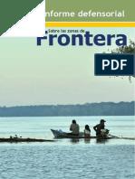 Informe Defensorial Sobre Las Zonas de Frontera