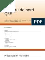 Tableau de Bord QSE