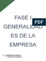 Fase i Generalidades de La Empresa