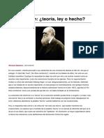 La Evolucion Teoria, ¿Ley o Hecho?