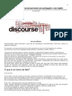 4. Marcadores Conversacionais Em Português e Em Inglês