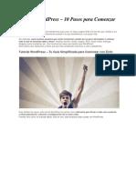 Tutorial WordPress – 10 Pasos Para Comenzar Con Éxito